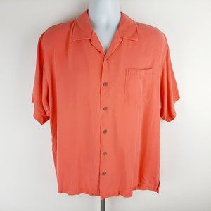Tommy Bahama Men's 100% Silk Button Front Shirt Si